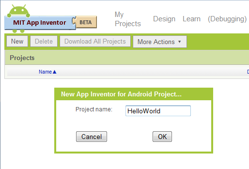 Getting started with MIT App Inventor