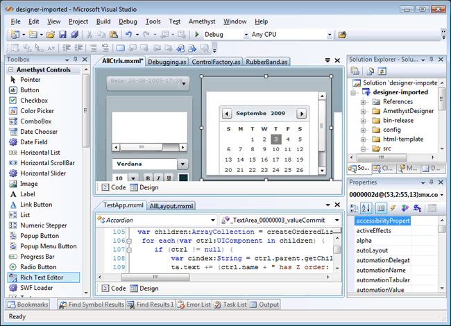 Amethyst - Flash for Visual Studio 2010
