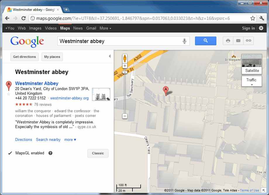 Google MapsGL for a deeper experience