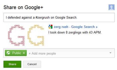 google s zerg rush easter egg goes viral