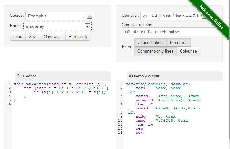 GCC Explorer - An Interactive Compiler