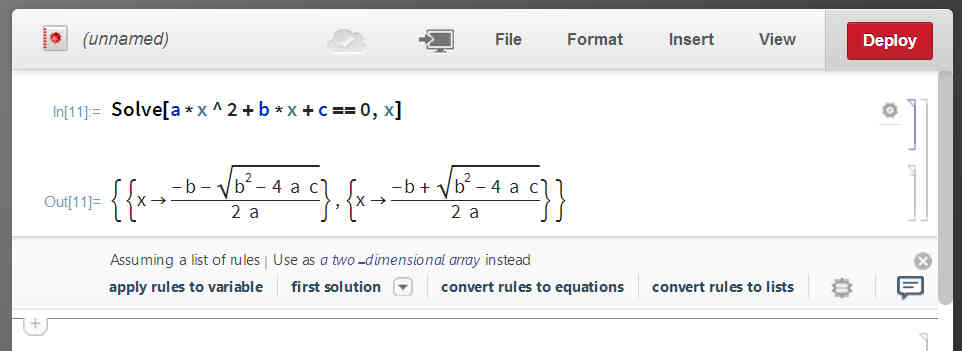 Mathematica Online Launched