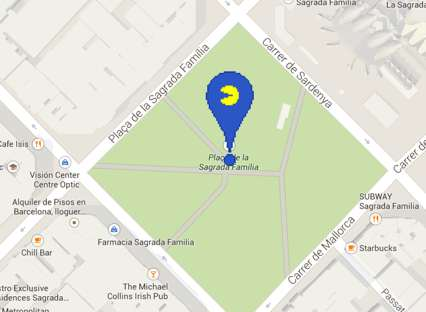 Pac-Man Easter Egg In Google Maps