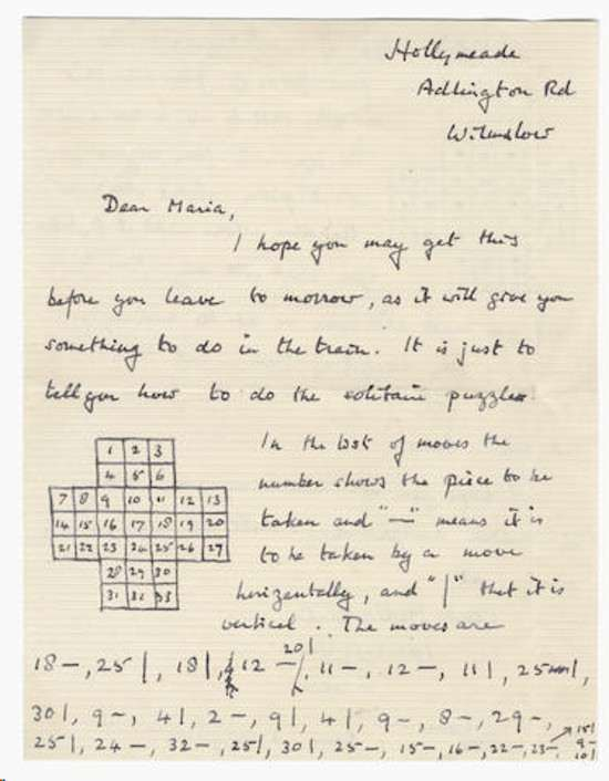 turing s solitaire letter to be auctioned turingsol