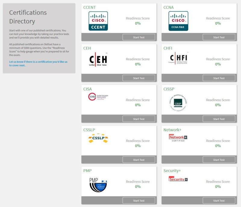 Skillset Pass Your Certification Exam
