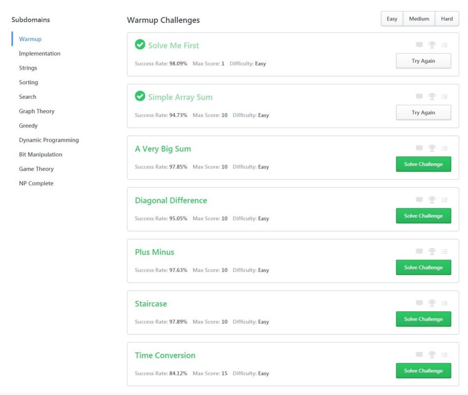HackerRank - Advance Your Coding Through Problem Solving