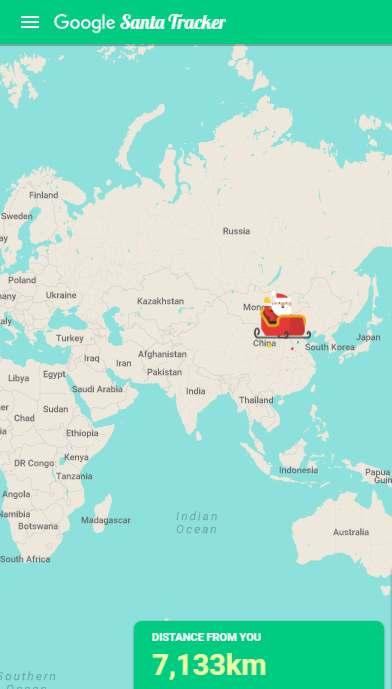 Where In The World Is Santa? Google and NORAD Keep Track on santa visit, santa posters, santa schedule, santa home, baseball map tracker, santa satan,