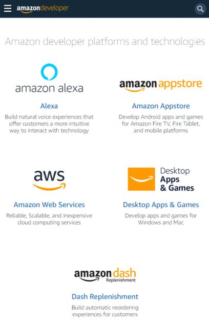 Redesign For Amazon Developer Portal