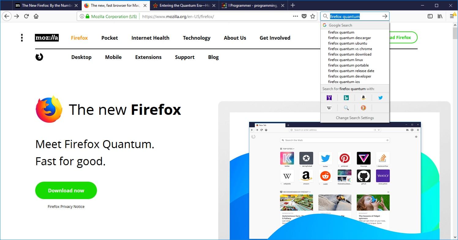 Firefox Quantum - Fast For Good