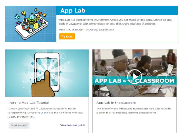Hour of Code 2017 Introduces App Lab