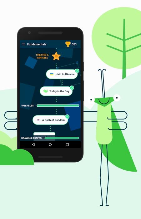 Grasshopper - An Area 120 App To Teach Coding