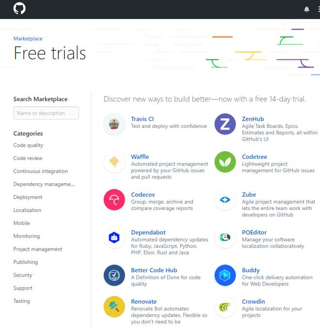 GitHub Marketplace Now Accepts Free Apps and Offers Free Trials