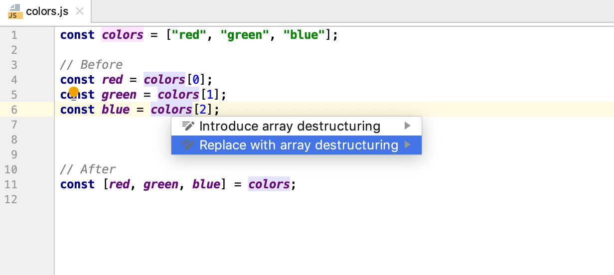 WebStorm Adds JavaScript Smart Intentions