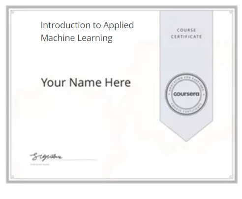 Applied Machine Learning On Coursera