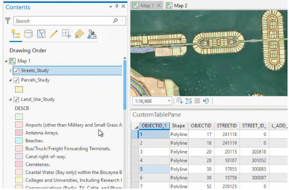 arcgis Layers API allows table data display