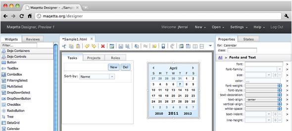 Maqetta HTML5 Editor