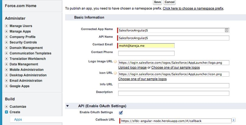 Accessing Salesforce Data from Angular js