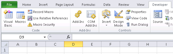 Getting started with Excel VBA