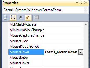 mousedown